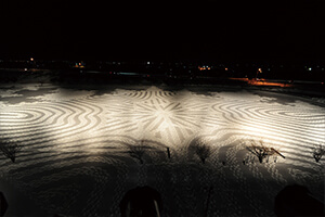 Rice Paddy Art in Winter
